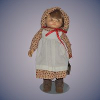 "Vintage Doll Beckett Originals ""Adalaide"" by June Artist Doll Carved Wood"