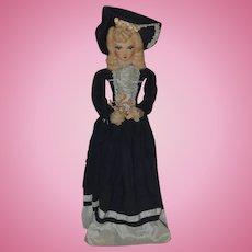Old Doll Boudoir Cloth Doll Fancy Unique