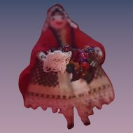 Old Doll Miniature Peddlar Peddler Doll Dollhouse Dollhouse Tiny