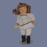 Vintage Doll Artist Carved Wood Beckett Originals Signed by Bob