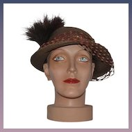 Vintage Doll Head Mannequin Head Fancy With Fancy Vintage Hat Bust