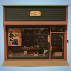 Wonderful Doll Miniature Dollhouse General Store Filled W/ Miniatures