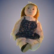Wonderful Cloth Artist Doll Stockinette Sewn & Painted Features