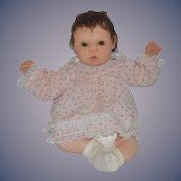 Vintage Doll Artist Marsha Hamilton Soft Sculpture Cloth Doll Signed