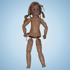 Antique Doll Simon & Halbig Rare 1078 Walker Doll Wind Up Key Mechanism French Market