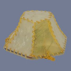 Old Doll Lamp Dollhouse Hanging Lamp Shade with Bulb Miniature