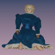 Antique Doll Greiner Papier Mache Paper Mache Beautiful Doll W/ Tag Blonde Greiner