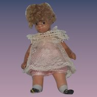 Vintage Doll Artist Black Dollhouse Miniature Jointed Adorable