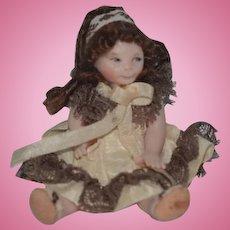 Vintage Doll Artist Miniature Dollhouse Doll