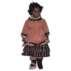 Vintage Doll Artist Calli Lou Black Signed