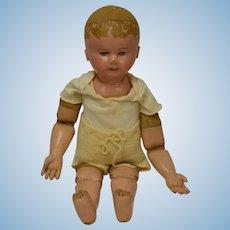 """Old Doll Martha Chase Oil Cloth Large Cloth Doll Rag Doll 25"""""""
