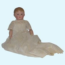 Old Doll Cloth Doll Oil Cloth Rag Doll in Wonderful Long Christening Dress Martha Chase Sweet Size