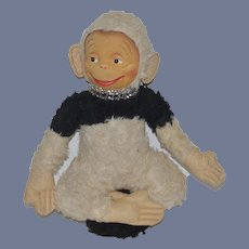 Old Doll Monkey Mask Face Multi Color Stuffed Animal