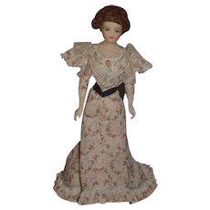 Wonderful Doll Wax Doll Large Glass Eyes Lewis Sorensen Large Dolll Artist NIADA