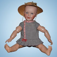 Antique Doll French Bisque SFBJ 236 Smiling Character w/ French Toddler Body Wonderful Nice Original Body