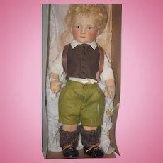 Vintage Doll R. JOHN WRIGHT Little Children Series 1 PETER MINT IN BOX Felt Doll
