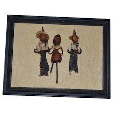Wonderful Old Doll Dolls Doll Set Painted Features Nut Doll Carved Miniature Unusual Folk Art Primitive