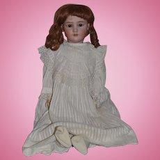 "Antique Doll Heinrich Handwerck Simon & Halbig Bisque Doll Big 29"" Tall"
