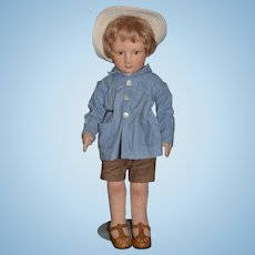 R. John Wright Doll Christopher Robin From Winnie The Pooh Cloth Doll Wonderful Felt Doll