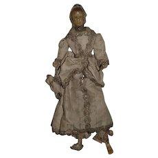 Antique Doll Wax Fashion Lady Original Clothing Fancy Unusual