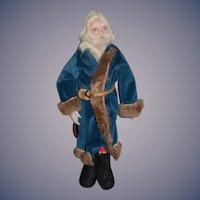 Vintage Doll Artist Wax Santa Claus Signed Bobi