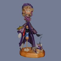 Wonderful Wood Artist Doll John and Dolly Berg A Stitch In Time The Sewing lady