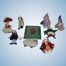 Vintage Doll Gladys Boalt Dolls Ornaments Weed House W/ Box Mixed Lot Cloth Dolls Signed
