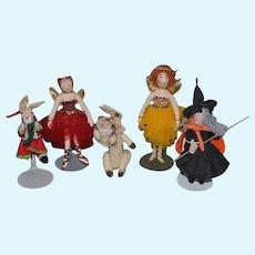 Vintage Doll Gladys Boalt Ornament Cloth Doll Rag Doll