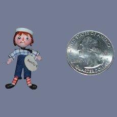 Wonderful Doll Raggedy Andy Doll Miniature Dollhouse Artist Signed