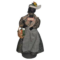 Old Doll Cloth Doll Charleston S.C. Black Peddler Doll Folk Art Unusual
