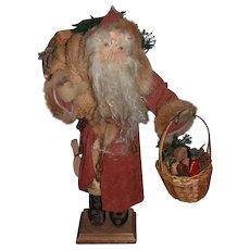 Wonderful Doll Artist Santa Claus By Judie Tasch Signed Cloth Doll