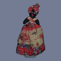 Vintage Doll Black Cloth Topsy Turvy Unusual