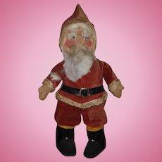 Wonderful Old Cloth Santa Doll Santa Claus Mask Face LARGE