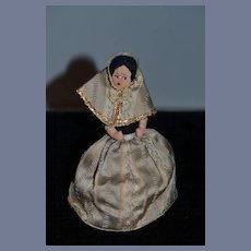 Vintage Miniature Cloth Doll Rag Doll Topsy Turvy