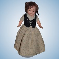 Wonderful Old Doll Topsy Turvy Composition Unusual Cinderella  Sweet