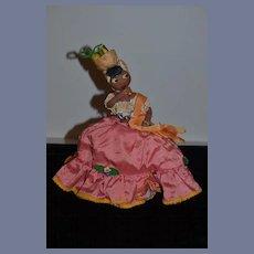 Old Doll Cloth Black Topsy Turvy Rag Doll Unusual Character