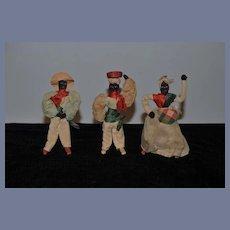 Old Doll Set Black Cloth Doll Rag Doll Set Unusual Folk Art Primitive