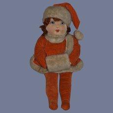 Old Doll Cloth Doll Rag Doll Stockinette English Doll Glass Eyes Sweet