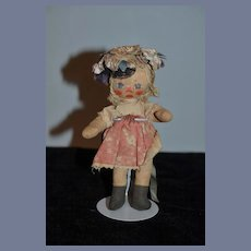 Old Doll Wonderful Cloth Doll Rag Doll Unusual Folk Art