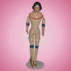 Antique Doll Miniature Milliner's Model Papier Mache & Wood Wonderful Dollhouse