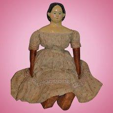 Antique Doll Greiner Papier Mache W/ Original Tag