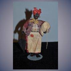 Old Doll Black Cloth Doll Rag Doll Charleston S.C. Character Unusual