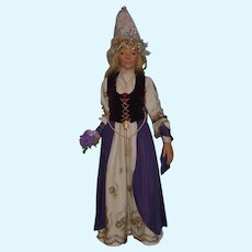 Wonderful Doll Artist Large Portrait Doll From Irish Folktales Irene R. Graham Fairy Princess Angelina
