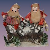 Antique Doll French Old Santa Claus Figures Dolls Papier Mache RARE Unusual Holiday