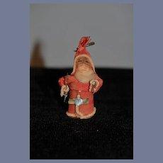 Old Miniature Doll Santa Claus Dollhouse Unusual
