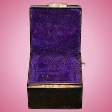 Old Doll Miniature Enamel Vanity Box