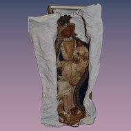 Early Doll Wax Religious Figure Mary W/ Baby Jesus Wonderful