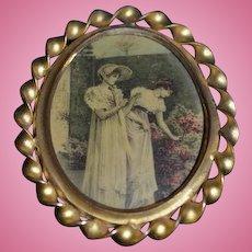 Antique Doll Miniature Picture Frame Wonderful Dollhouse