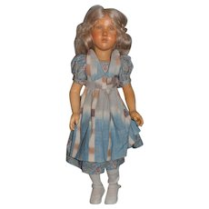 Wonderful Doll French Carved Wood By Artist Regina Sandreuter Jointed Wonderful