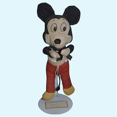 Old Cloth Doll Mickey Mouse Rag Doll Adorable